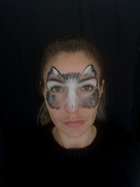 Cat Mask Face Paint Design