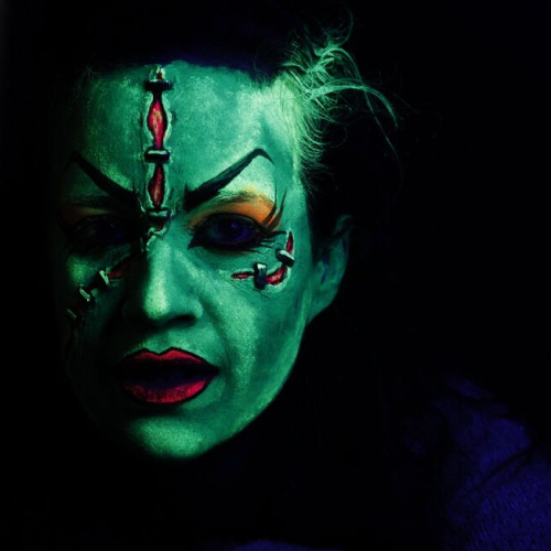 video blacklight female frankenstein tutorial halloweenmakeupcom