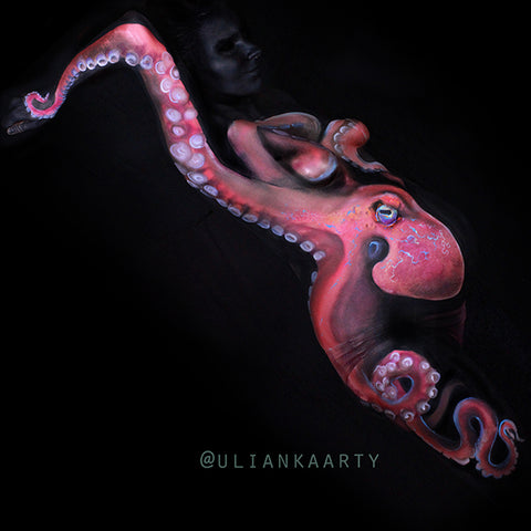 Octopus Belly Painting by Ulianka