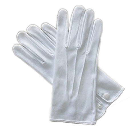 White Costume Gloves w/o Snap (Beyco (Alan Sloane))