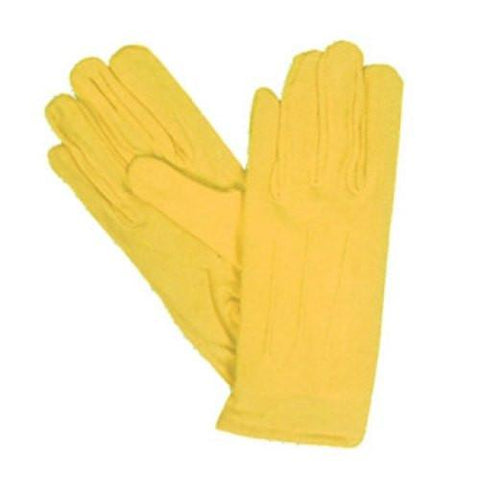 Gold Nylon Costume Gloves with Snap