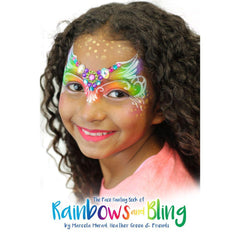 Silly Farm Face Painting Book of Rainbows And Bling By Murad, Green