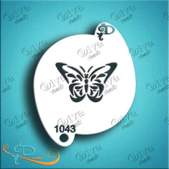 Diva Face Paint Stencil - Butterfly 2