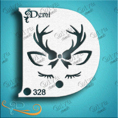 Diva Face Paint Stencil - Diva Demi Deer Girl