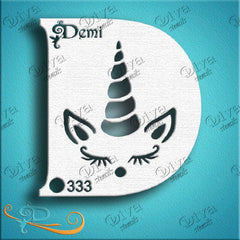 Diva Face Paint Stencil - Diva Demi Unicorn