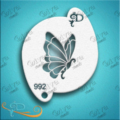 Diva Face Paint Stencil - Diva Butterfly