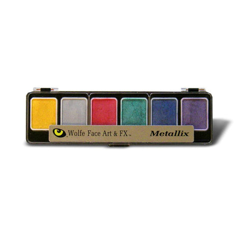 Wolfe 6 Color Metallix Face Paint Palette