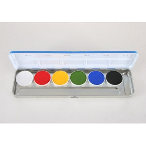 Kryolan 6 Color Vivid Aquacolor Face Paint Palette