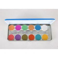Kryolan 12 Color Interferenz Face Paint Palette