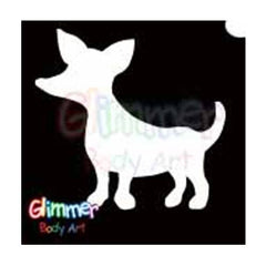 Glimmer Body Art Chihuahua Dog Stencils (5/pack)
