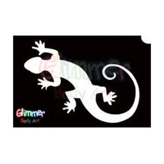 Glimmer Body Art Gecko Stencils (5/pack)