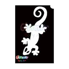 Glimmer Body Art Lizard Stencils (5/pack)
