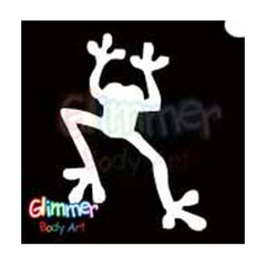 Glimmer Body Art Frog Stencils (5/pack)