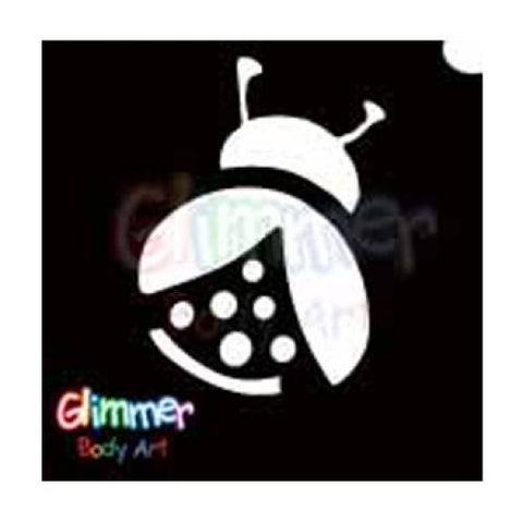 Glimmer Body Art Lady Bug Stencils (5/pack)