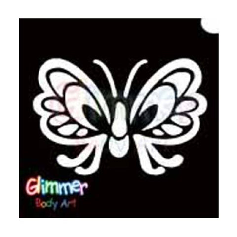 Glimmer Body Art Butterfly Wings Stencils (5/pack)