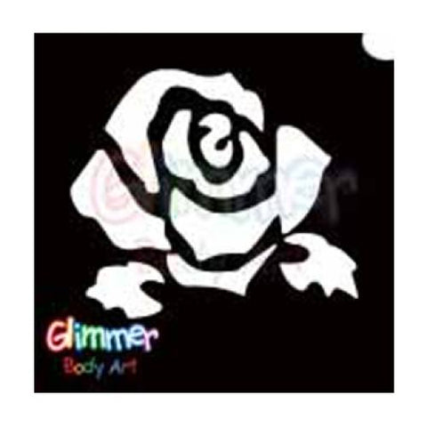 Glimmer Body Art Rose Bud Stencils (5/pack)