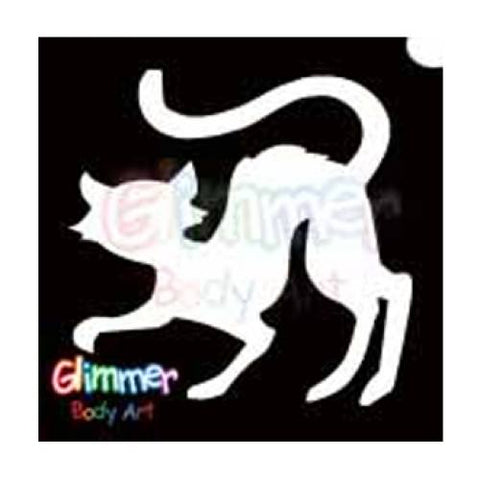 Glimmer Body Art Black Cat Stencils (5/pack)