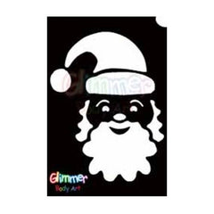 Glimmer Body Art Santa Stencils (5/pack)