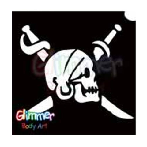 Glimmer Body Art Pirate Sword Head Small Stencils (5/pack)