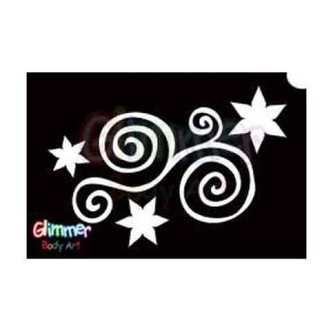 Glimmer Body Art Star Swirl Stencils (5/pack)