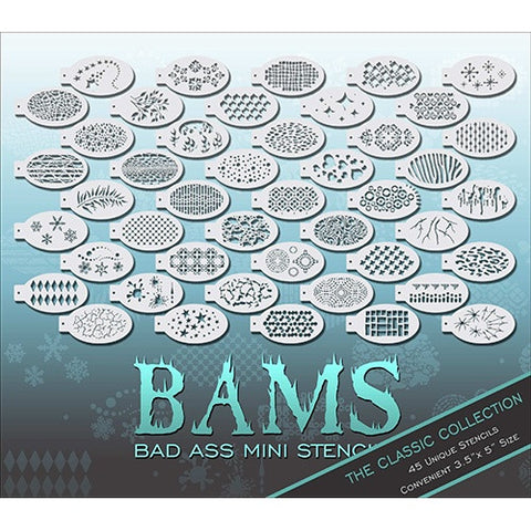 Bad Ass Mini Stencils - BAM1000 Full Set
