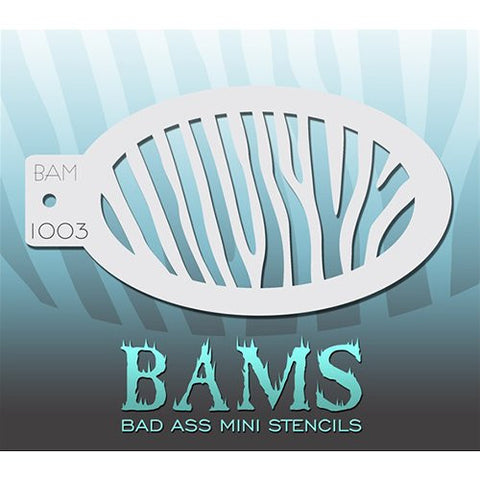 Bad Ass Mini Stencils - BAM1003 - Zebra