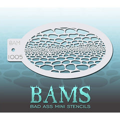 Bad Ass Mini Stencils - BAM1005 - Snakeskin