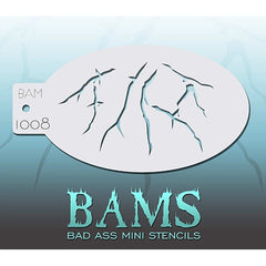 Bad Ass Mini Stencils - BAM1008 - Cracks