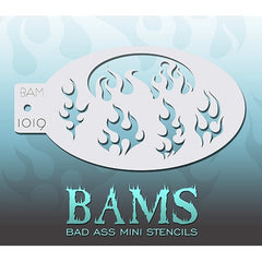 Bad Ass Mini Stencils - BAM1019 - Flames