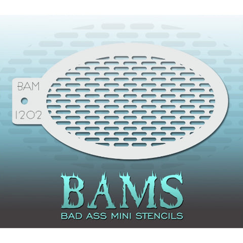 Bad Ass Mini Stencils - BAM 1202 - Long Dashes