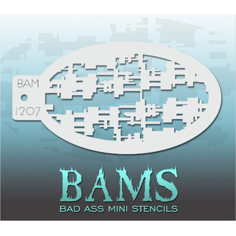 Bad Ass Mini Stencils - BAM 1207