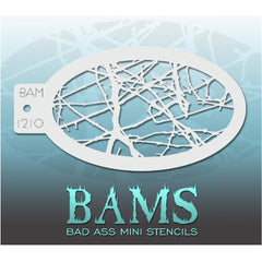 Bad Ass Mini Stencils - BAM 1210 - Cracked Ice