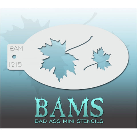 Bad Ass Mini Stencils - BAM 1215 - Maple Leaves