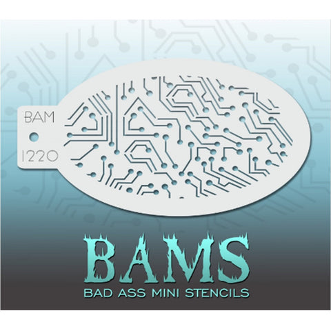 Bad Ass Mini Stencils - BAM 1220 - Circuits
