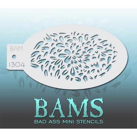 Bad Ass Mini Stencils - BAM 1304 - Petals