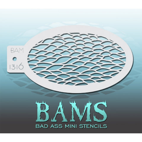 Bad Ass Mini Stencils - BAM 1316 - Scales