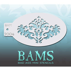 Bad Ass Mini Stencils - BAM2004 - Damask