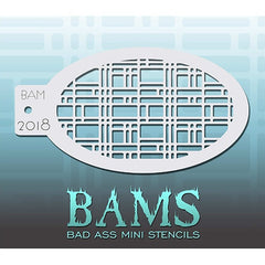 Bad Ass Mini Stencils - BAM2018 - Angled Retro