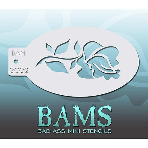 Bad Ass Mini Stencils - BAM2022 - Rose