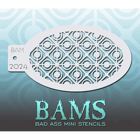 Bad Ass Mini Stencils - BAM2024 - Retro Circles