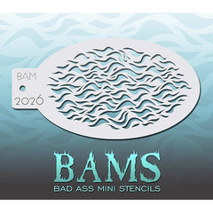 Bad Ass Mini Stencils - BAM2026 - Wavy Fur