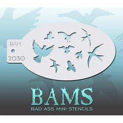 Bad Ass Mini Stencils - BAM2030 - The Birds