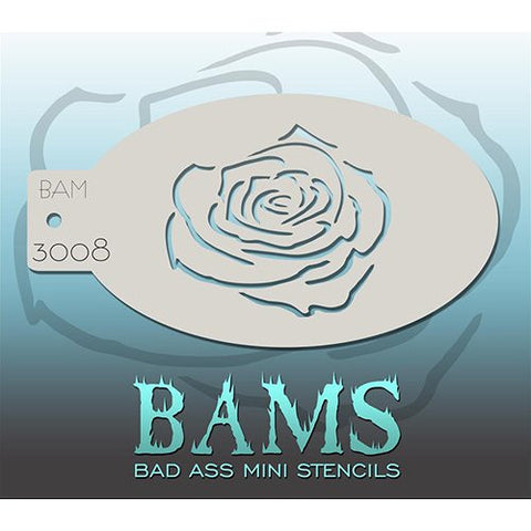 Bad Ass Mini Stencils - BAM3008 - Rose Outline