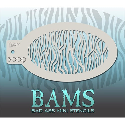 Bad Ass Mini Stencils - BAM3009 - Small Zebra