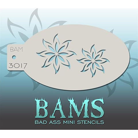 Bad Ass Mini Stencils - BAM3017 - Flower Duo