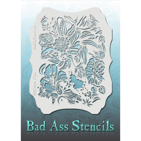 Bad Ass Full Size Stencils - BAD6075 - Flora