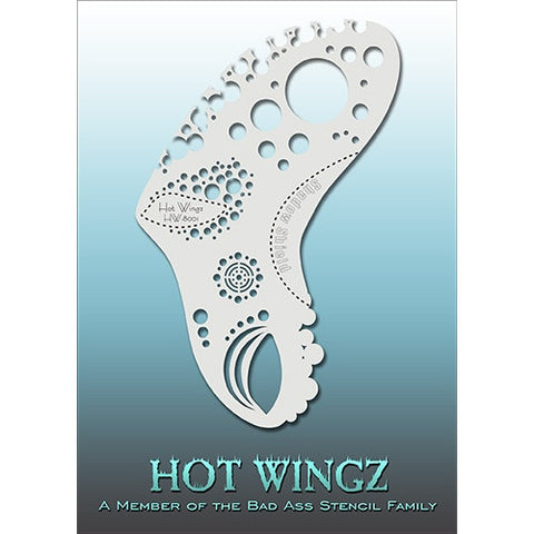 Bad Ass Hot Wingz Stencils - HOTWING8001 - Bubbles