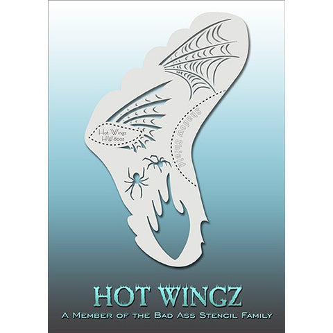 Bad Ass Hot Wingz Stencils - HOTWING8003 - Spiders