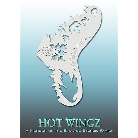 Bad Ass Hot Wingz Stencils - HOTWING8005 - Leaves