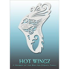 Bad Ass Hot Wingz Stencils - HOTWING8006 - Fantasy